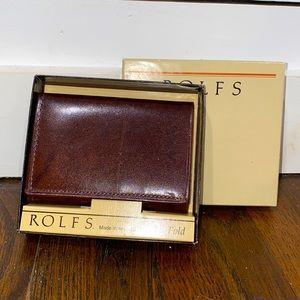 NIB Rolfs Brown Leather Wallet